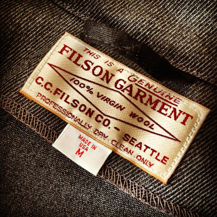 CC Filson Jackets Clothing Label