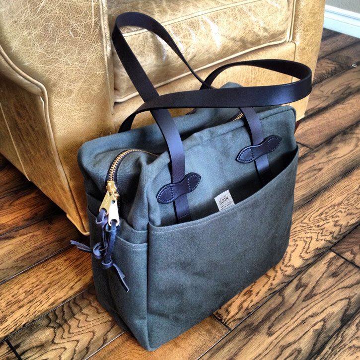 CC Filson canvas tote bag-best carry on luggage review